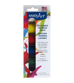 Handy Art Tempera Washable Paint Kit .75oz 6/Pkg