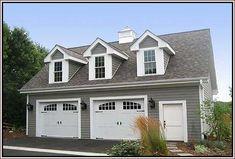 Two car garage with apartment - Outdoor Design : Home Design . Garage Workbench Plans, Carport Plans, Two Car Garage, Diy Garage, Plywood Kitchen, Garage Exterior, Garage Storage Cabinets, Garage Apartments, House Design