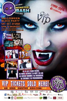 Come show off your costume at Monster Bash 10/27/2012 #ClubVIP ...
