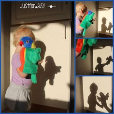 We have some great puppets at the Toy Library that would be perfect for this.    justfordaisy: Silhouette and Shadow Play