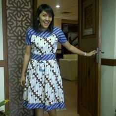 Batik dress combined. By OniSimo