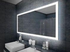Alu Badschrank badezimmer spiegelschrank bad LED Beleuchtung 120 x ...