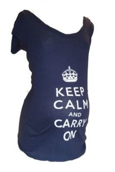 Keep Calm and Carry On Maternity Shirt