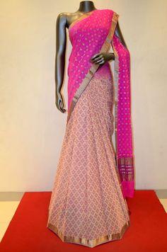 Stylish Half Saree Pure Georgette Silk Saree Product Code: AA204535 Online Shopping: http://www.janardhanasilk.com/Saree-Collections/Printed-Georgette-Silk-Saree?product_id=2953&limit=25