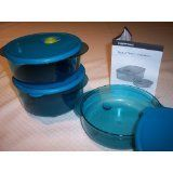 Tupperware Vent N Serve Small Round Set . $54.00. 3pc round set,. peacock blue or. cosmic black. Tupperware Vent N Serve Small Round Set