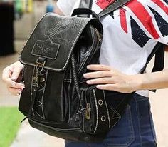 2016 NEW Designer Fashion High-Quality Well-Crafted Large-Capacity PU Leather Backpack 3 Colors