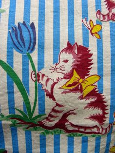 Vintage Cotton Feed sack Quilting NOVELTY Fabric  by anne8865, $65.00