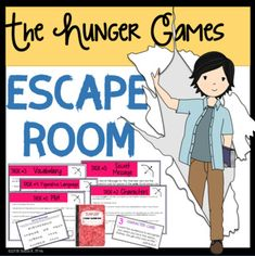 Escape Rooms have become all the rage.and for good reason! They are highly-engaging activities that allow students to deepen their understanding of content. It's a win-win situation for all!This ESCAPE ROOM is designed to be used after Hunger Games Activities, Interactive Activities, Book Activities, Interactive Notebooks, Hunger Games Novel, Hunger Games Party, Text Feature Anchor Chart, 7th Grade Ela