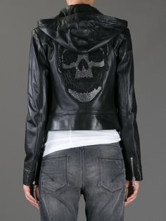 Skull leather jacket ~ Philipp Plein