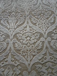 William Morris Upholstery Fabric ~ 'Pugin' Cut Velvet Weave ~ Creamy Gold 1.5m