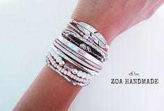 Model name: PINK SOUFFLE. ZOA HANDMADE bracelets.
