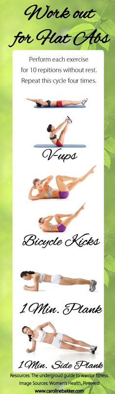 Ab Workout... 10 minutes of alternating between mountain climbers and toe touches.