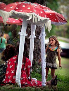 Earth Frequency Festival, mushroom decoration