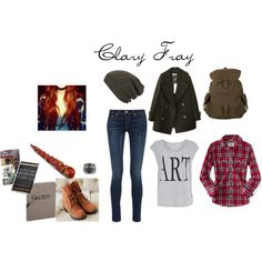 Designer Clothes, Shoes & Bags for Women Alternative Style, Alternative Fashion, Clary Fray Outfit, Disney Outfits, Cute Outfits, Supernatural Films, Shadowhunters Outfit, Looks Style, My Style