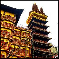 静安寺 Jing'an Temple à  新莊區, 上海市