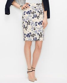 Image of Graphic Floral Pencil Skirt