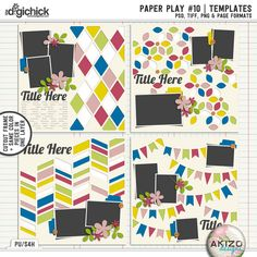 Paper Play #10   Templates by Akizo Designs (Digital Scrapbooking Template)