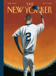 Derek Jeter Honored With 'New Yorker' Cover. -The New Yorker The New Yorker, New Yorker Covers, Cool Magazine, Print Magazine, Magazine Covers, Magazine Art, Magazine Layouts, Magazine Design, Derek Jeter