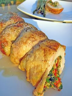 Boneless Chicken Stuffed with Sundried Tomatoes, Blue Cheese & Herbs....sounds delish!