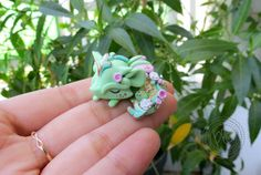 Miniature Cute Dragon Sculpture in Pastel by PlushlikeCreatures by plushlikecreatures on Instagram   pinned by @weememories - Jenny Suchin