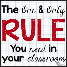 The One Rule Classroom: Just a little RESPECT!
