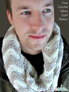Free Chevron Infinity Scarf Crochet Pattern - quick and easy crocheted scarf you can finish in an hour or so. Easy enough for a beginner. Quick and trendy