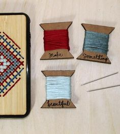 Graphic Design - Graphic Design Ideas  - DIY Embroidery Wooden iPhone Case by Savvie Design Co.  on Scoutmob Shoppe   Graphic Design Ideas :     – Picture :     – Description  DIY Embroidery Wooden iPhone Case by Savvie Design Co.  on Scoutmob Shoppe  -Read More –