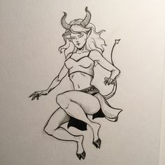 Day 10 - inktober and drawlloween 2016: demon jumping