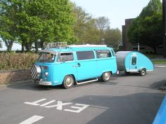 vw bus and trailer
