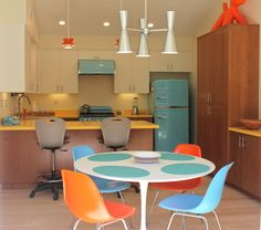 Mid Century Modern Kitchen Remodel - midcentury - Dining Room - Los Angeles - Glass Bros Inc./ Interiors by Lori Glass