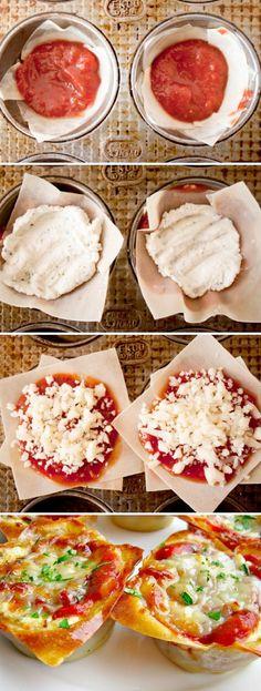 Bekijk de foto van lottedages met als titel Miniature Lasagna! Lasagne in een cupcake en andere inspirerende plaatjes op Welke.nl.