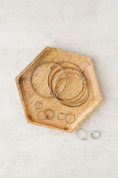 Wooden Hexagon Catch-All Dish. $14