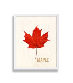 03dd690db0b Items similar to Maple Leaf Print Modern Art Print Living Room Decor Red  Wall Hanging Bedroom Decor Canada Leaf Art Fall Colors Autumn Wall Art Home  Decor ...