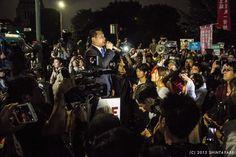 150917 SEALDs戦争法案強行採決に反対する国会前抗議行 | BIAS