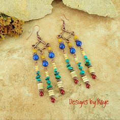 Boho Jewelry Chandelier Earrings Turquoise Jewelry by BohoStyleMe