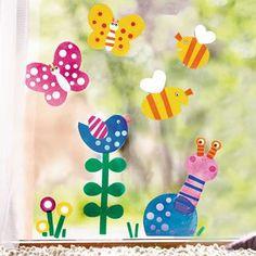 Fensterfolie Frühling JAKO-O - Farbenfrohe Frühlingsfenster ♥ sorgfältig ausgewählt ♥ Jetzt online bestellen!