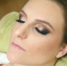 Maquiagem dourada para formatura por Ariadne Cretella – maquiadora Curitiba - Tudo Make – Maior blog de maquiagem, beleza e tutoriais de Curitiba.