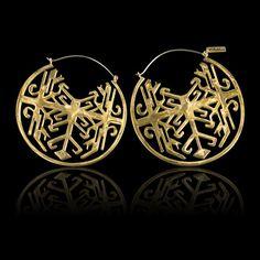Arabic Art Hoop Earrings Studs