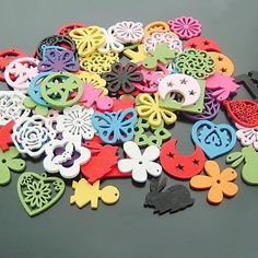 50pcs 25mm Colorful Wooden Beads Y868
