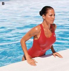 Aujourd'hui, on vous dévoile la meilleure routine piscine possible ! Finies les (trop) simples longueurs. On enfile son maillot et on court sous l'eau pour déambuler fièrement dans son paréo !