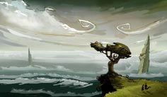 """""""True Treewalkers"""" Art by Mathias Fischer"""