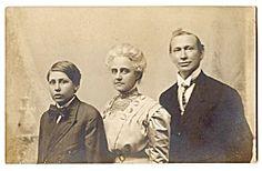 Real Photo Postcard - Family Portrait