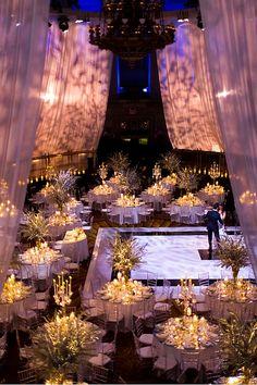 Sneak Peak of New York Wedding Reception Overview | Event Planning & Design: tracytaylorward.com | Photography: roeyyohaiphotogra... | Wedding Venue: Gotham Hall, New York