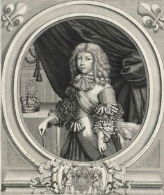 Louis, Grand Dauphin, son of Louis XIV and Marie Thérèse of Austria, Infanta of Spain, circa 1668 by Larmessin