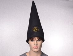 0fb9139a1b5 Black Wizard Hat Extra Tall Pointed Costume Hat by MountainGoth Gnome Hat