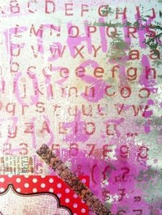 'Graffiti-effect Stamping'.     A 'Banana Frog' DT post from a few years back.