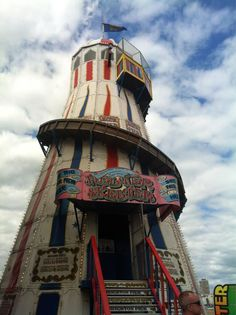 Helter Skelter on Brighton Pier - we I get to the bottom I go back to the top of the slide then I stop & I turn & I go for a ride. . .