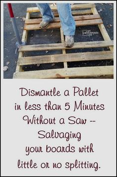 Pallet projects for everyone. These pallet projects will inspire you to do your own project. Tips for taking pallets apart in less than five minutes. #palletprojects #palletfurniture #diypalletideas