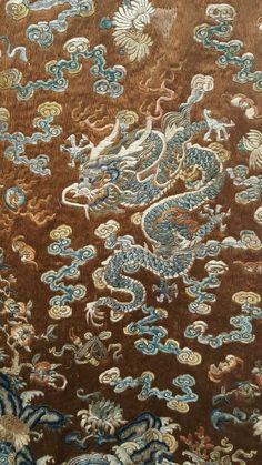 Extremely RARE Antique 18th Century Chinese Silk Lao Pao Dragon Robe | eBay