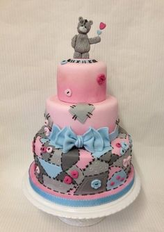 Tatty teddy patchwork cake.
